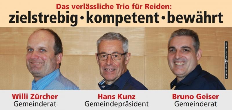 Wahlplakat von Hand Kunz